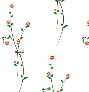 Flower Vines Shelf Paper Drawer Liner - Transitional ...