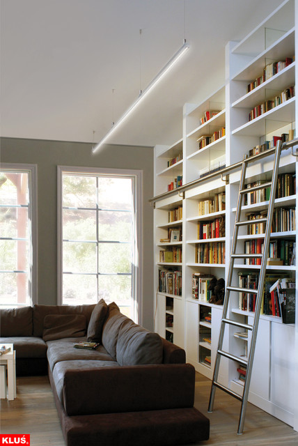 Make A Living Room A Library: LED Library And Book Shelf Lighting