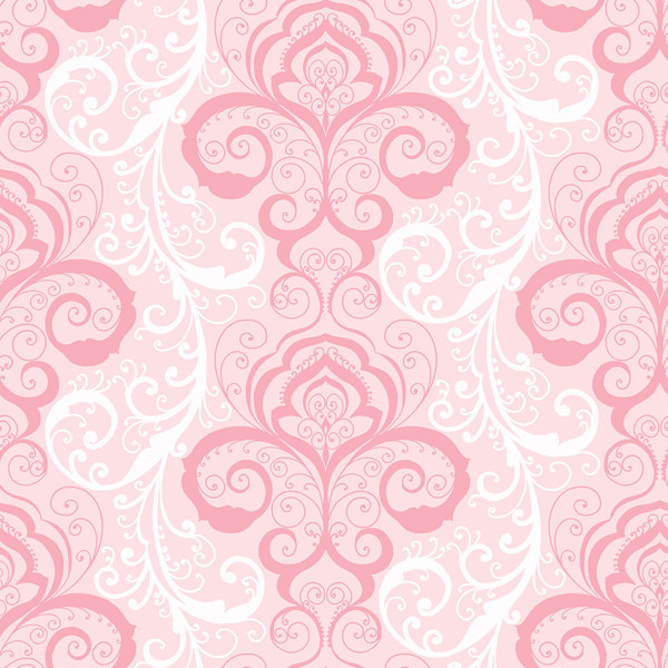 Vanessa Pink Henna Brocade Wallpaper Contemporary Wallpaper By
