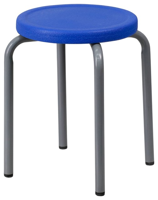 Admirable Delacora Ff Yk01B Bl Gg 17 Inch Wide Stackable Swivel Seat Stool Uwap Interior Chair Design Uwaporg