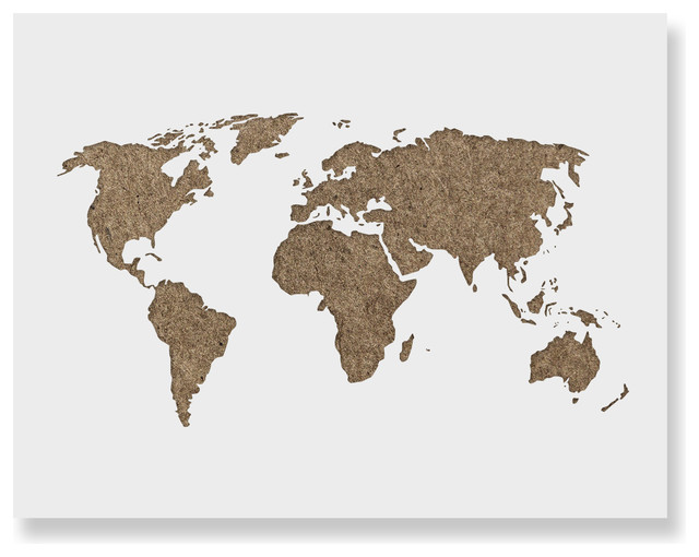 World Map Stencil Template for Walls and Crafts, 8.5\
