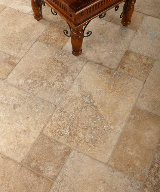 Mexican Noce Tumbled Stone Living Room Los Angeles By Arizona Tile