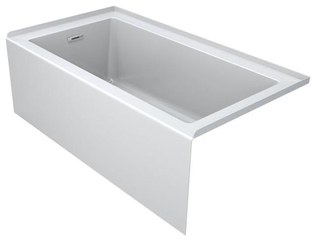 """Jacuzzi Lns6030blxxxx Linea 60""""x30"""" Acrylic Soaking Bathtub."""