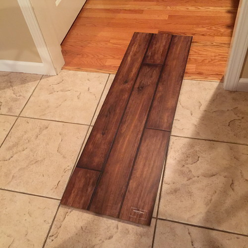 Can vinyl plank flooring be installed over ceramic tile for Vinyl flooring over vinyl