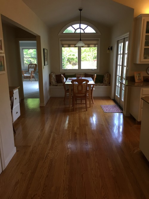 Should I Continue With The Same Oak That Runs Through Living Room Dining And Kitchen