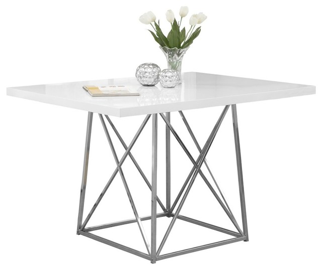 180b512c45f5 Dining Table With Chrome Metal Base - Contemporary - Dining Tables - by Monarch  Specialties