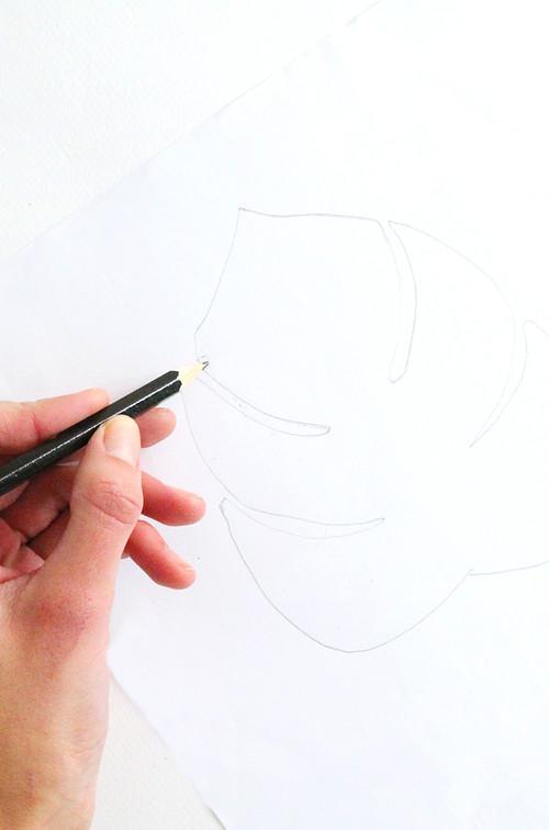 DIY Carte de voeux tropicales