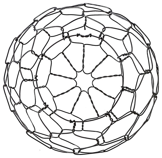 Wall Hanging Half Round Wire Basket - Contemporary - Wall Sculptures ...
