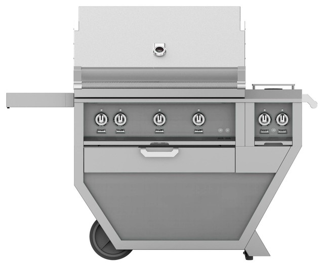 Freestanding Grill With And One Infrared Burner, Steeletto, Natural Gas, 36.