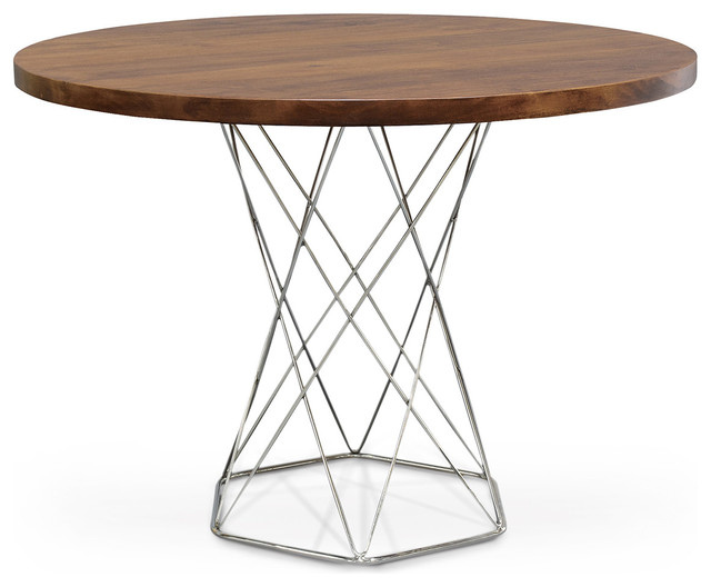 Stockholm Industrial Modern Solid Wood Round Dining Bistro