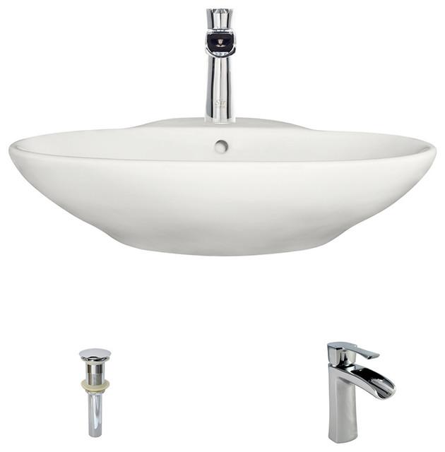 MR Direct V2602 Bisque Porcelain Vessel Sink