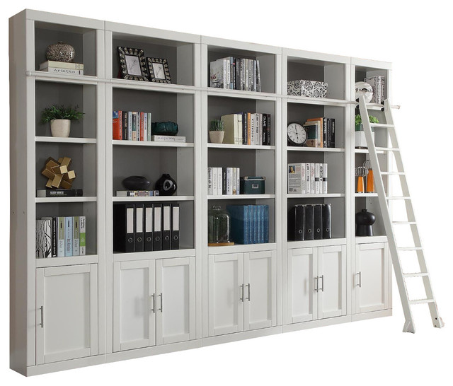 Parker House Catalina 5-Piece Library Wall In White, 2.