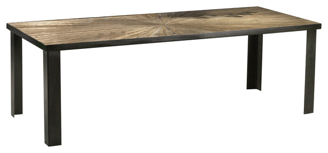 Cacao Elm Wood Dining Table, Large
