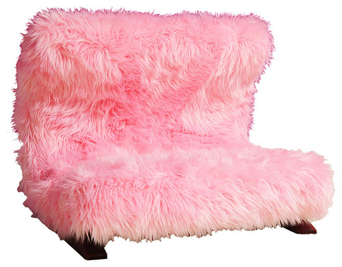 Modern Pink Faux Pet Bed