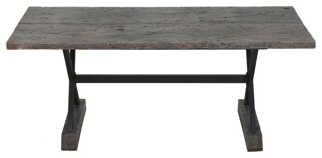 Lavelle Dining Table Rustic Outdoor Dining Tables by GDFStudio