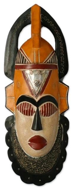Chiefs Staff Yoruba Wood Mask