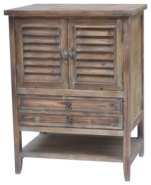Jackson 2 Door Weathered Oak Nightstand Traditional