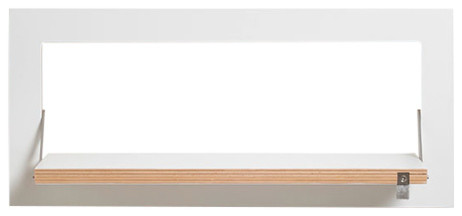 Fläpps Slim and Narrow Birch Plywood Shelf, White