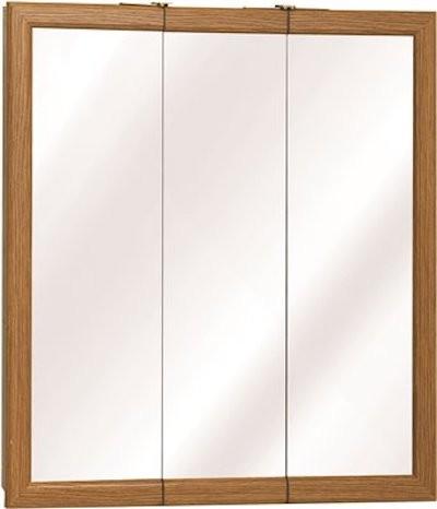 "American Pride K Series Triview Medicine Cabinet, Classic Oak, 24""."
