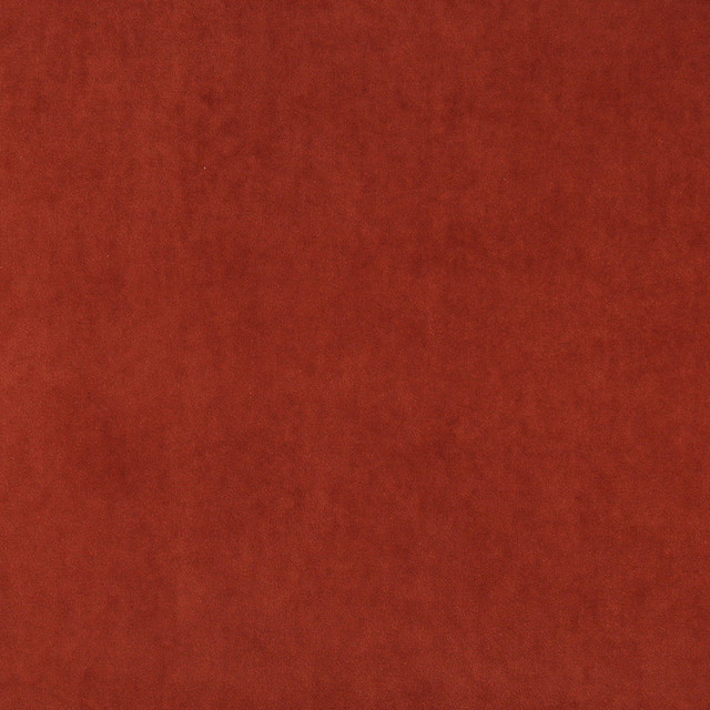 Rust Red Plush Elegant Cotton Velvet Upholstery Fabric By The Yard
