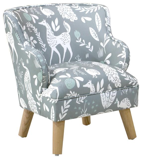 Awe Inspiring Kids Modern Chair In Hatfield Fauna Gray Ground Mint Creativecarmelina Interior Chair Design Creativecarmelinacom