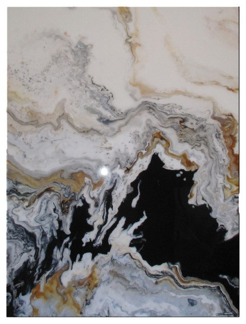 """Modern Contemporary Fine Art """"Tributary"""" Resin Coated Limited Edition 48""""x36"""" E"""
