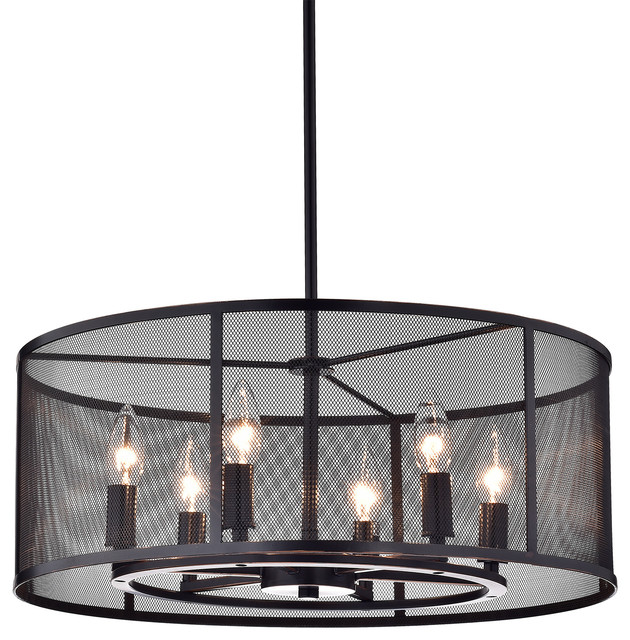 Aludra 6 light chandelier oil rubbed bronze industrial aludra 6 light chandelier oil rubbed bronze mozeypictures Image collections