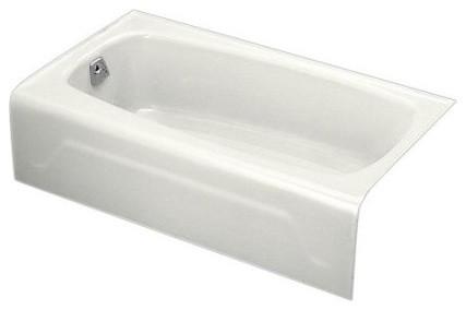"Seaforth 54""x31"" Alcove Bath With Left-Hand Drain, White."