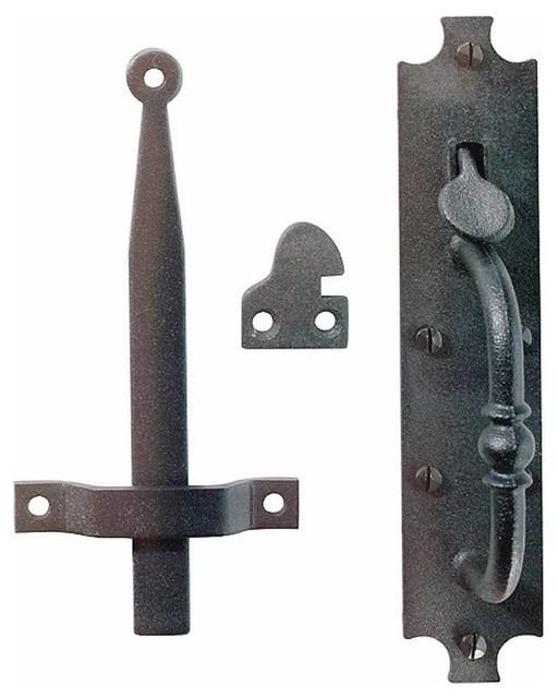 Cast Iron Door Latch Black Colonial Norfolk 8 Tall Traditional Door Locks By Renovator S Supply