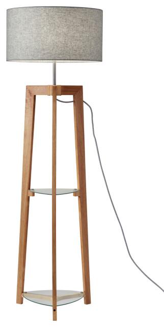 "Adesso 3007 Henderson Single Light 60"" Tall Dual Function Buffet Floor Lamp"