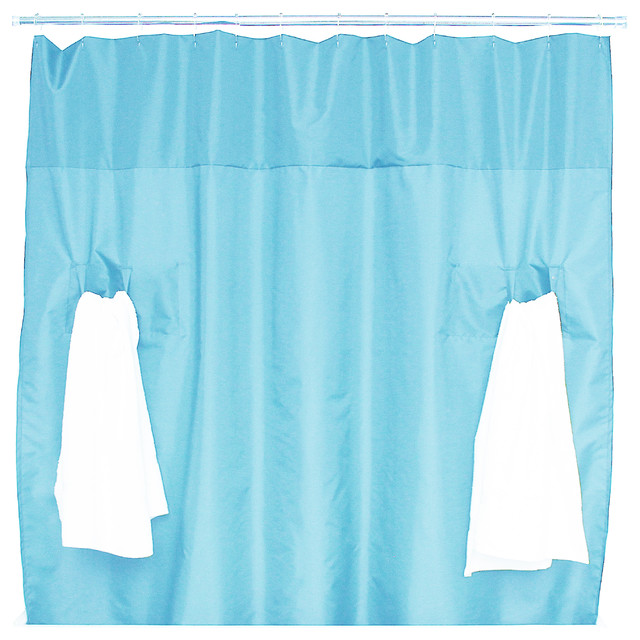 Utility Shower Curtain, Sky Blue Modern Shower Curtains