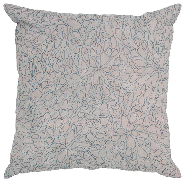 40x40Grey Decorative Pillow With Stone Wash With Embroidery Custom How To Wash Decorative Pillows