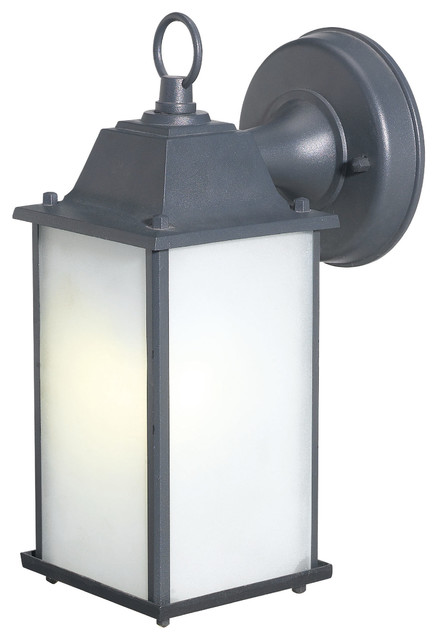 Fluorescent Exterior Wall Lights : Fluorescent Outdoor Sconce - Traditional - Outdoor Wall Lights And Sconces - by Woodbridge ...