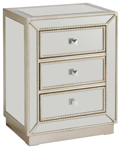 3-Drawer Chest, Mirrored