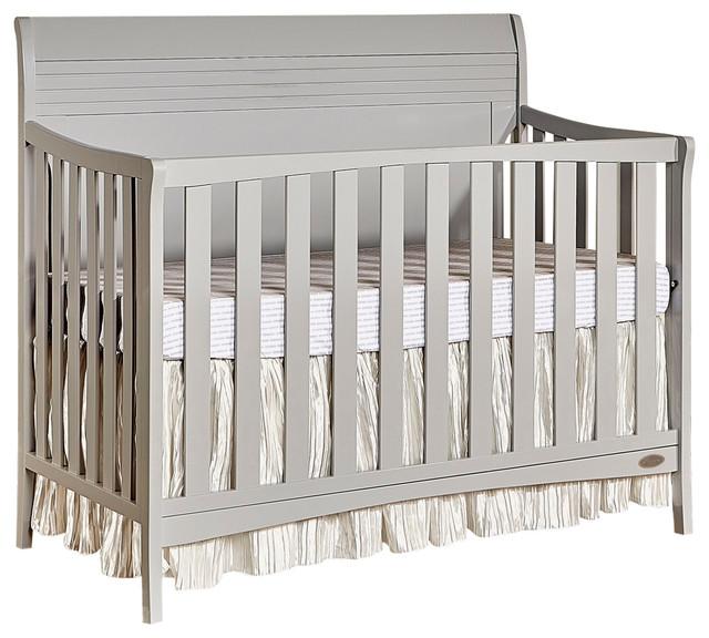 Dream On Me Bailey 5-In-1 Convertible Crib, Dove Gray