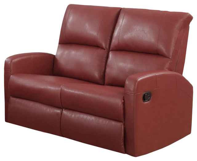 Reclining Loveseat Dark Brown Bonded Leather Contemporary Loveseats By Builderdepot Inc