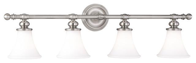 Weston 4-Light Bath and Vanity, Satin Nickel