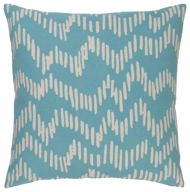 Surya Somerset 18x18x0.25 Blue Pillow Cover.