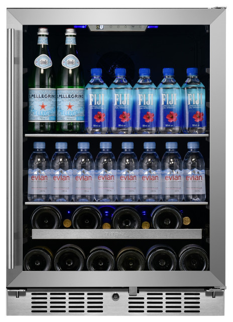 """Signature 24"""" 84 Bottle 13 Can SS Door Single Zone Wine and Beverage Cooler"""