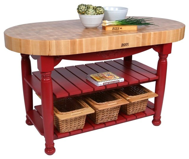 John Boos Harvest Table 60 X30 X4 Traditional Kitchen Islands And Carts By Florence Adams