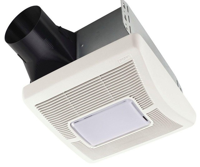Broan A70l Ceiling Exhaust Bath Fan With Light 70cfm White Bathroom Exhaust Fans By Life
