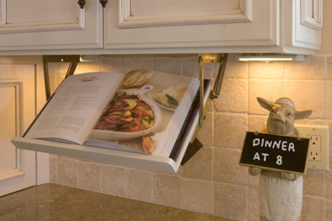 pull down cook book holder