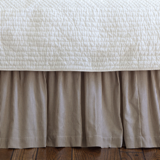 farmhouse stripe twin bed skirt