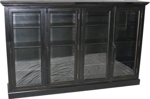 Bookcase Large Black Silver Poplar New 4