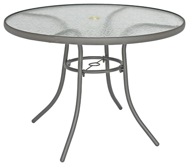 Round Glass Garden Table And Chairs, Round Patio Tables