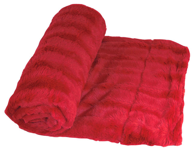 Bachman Oversized Double-Sided Throw Blanket, Chili Pepper.