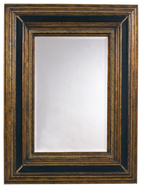 Shop Houzz Rectangular Wall Mirror In Antique Gold