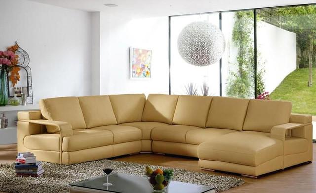 Luxurious Full Italian Leather L-shape Furniture
