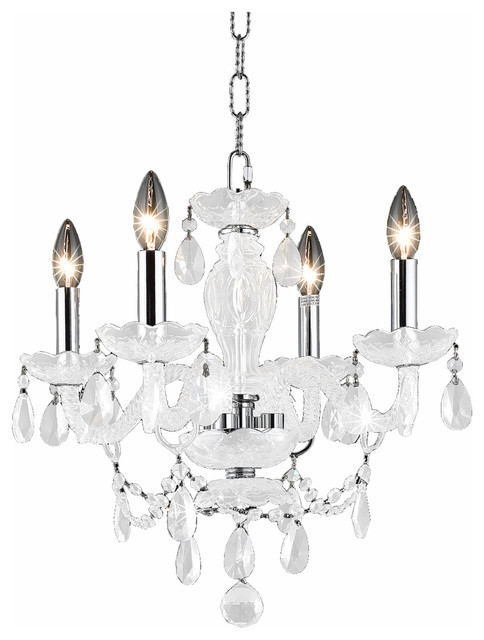 7834 Princeton Collection 18 4 Light Pendant Crystals Clear Finish