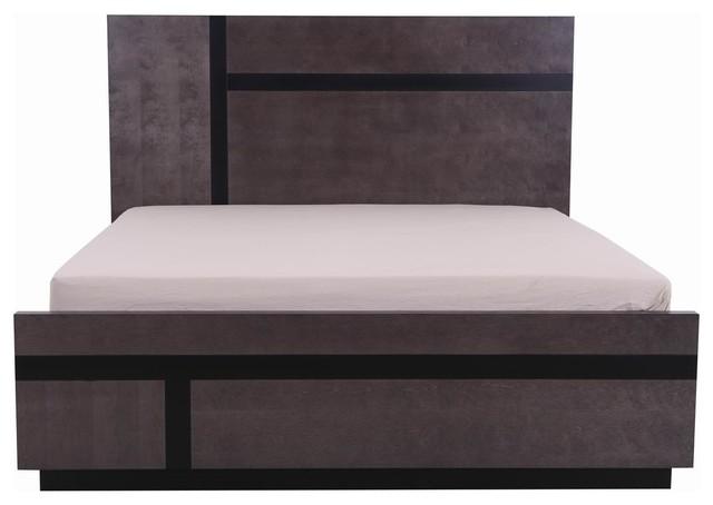 Parson Gray Modern Platform Bed, Eastern King.